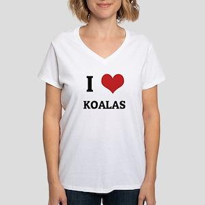 I Love Koalas Ash Grey T-Shirt