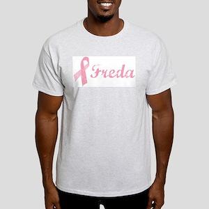 Freda vintage pink ribbon Light T-Shirt