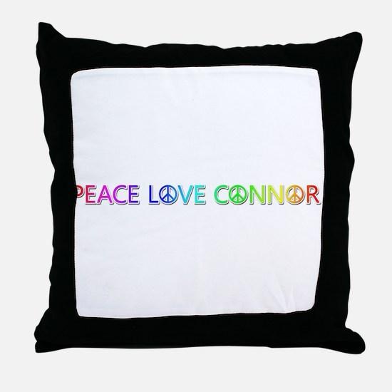 Peace Love Connor Throw Pillow
