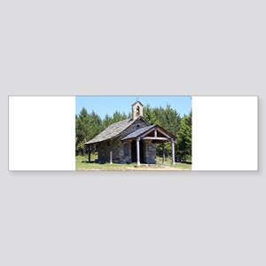 El Camino, church at Cruz de Ferro Bumper Sticker