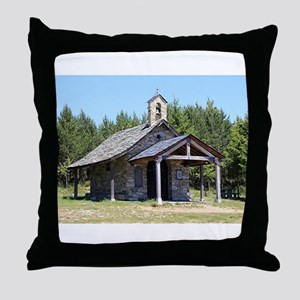 El Camino, church at Cruz de Ferro Throw Pillow