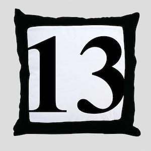 Number Thirteen Energy (13) Throw Pillow