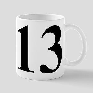 Number Thirteen Energy Small White Mug Mugs