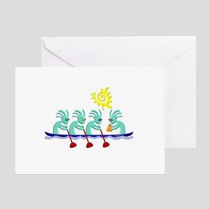 Kokopelli Rowing Greeting Card