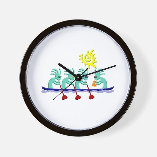 Kokopelli Rowing Wall Clock