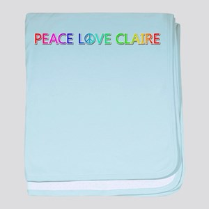 Peace Love Claire baby blanket