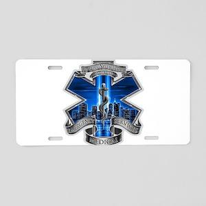 EMS 9-11 Aluminum License Plate