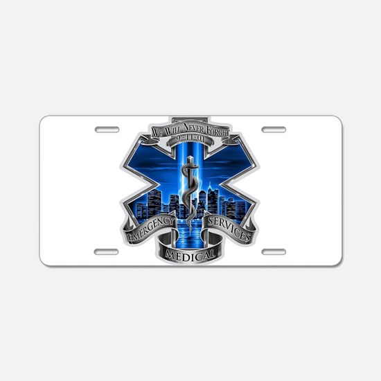 EMS 9-11 Aluminum License Plate