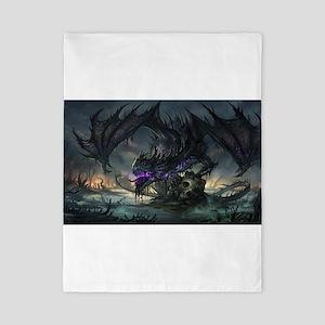 Purple Dragon Twin Duvet