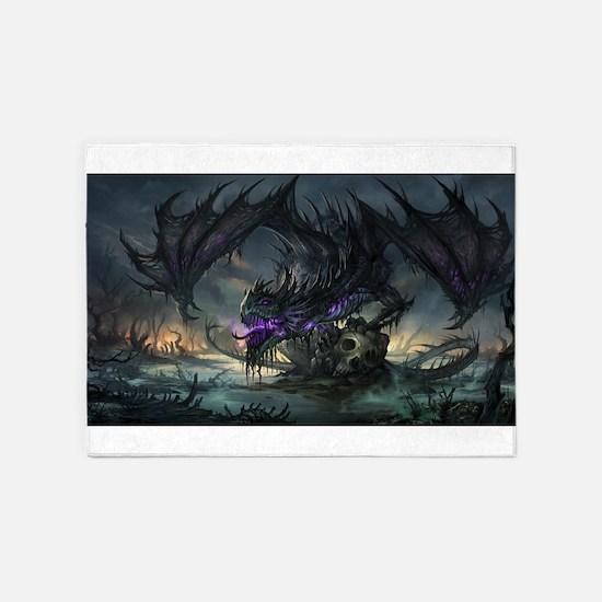 Purple Dragon 5'x7'Area Rug