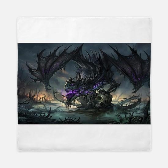 Purple Dragon Queen Duvet