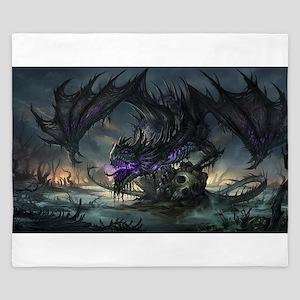 Purple Dragon King Duvet