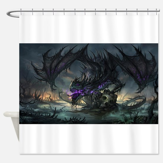 Purple Dragon Shower Curtain