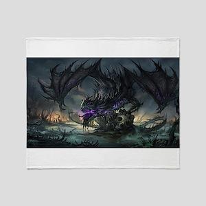 Purple Dragon Throw Blanket