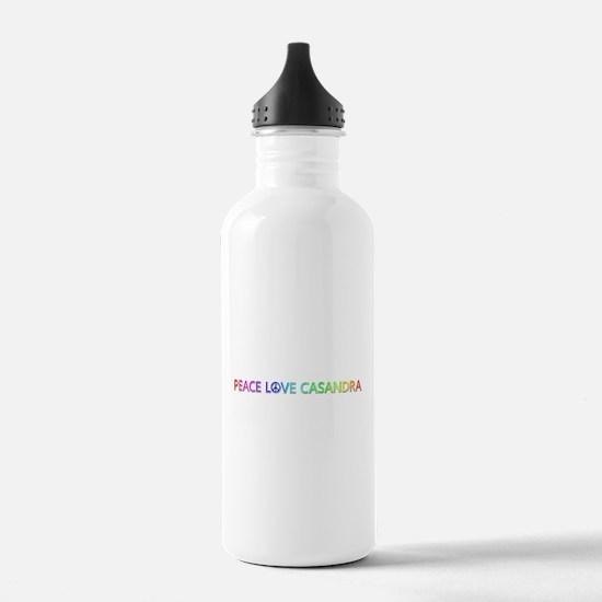 Peace Love Casandra Water Bottle