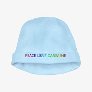 Peace Love Caroline baby hat