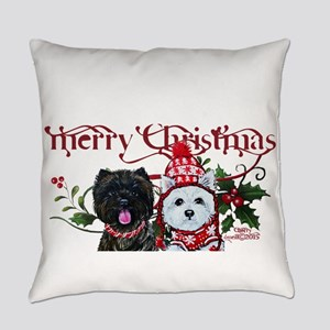 Westie Cairn Christmas Everyday Pillow