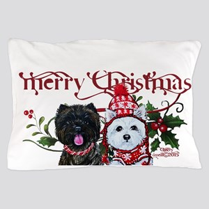 Westie Cairn Christmas Pillow Case
