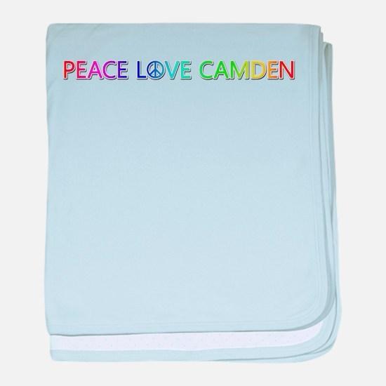 Peace Love Camden baby blanket
