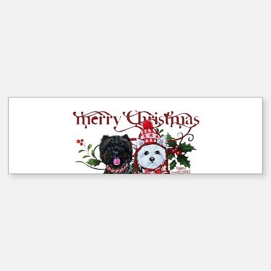 Westie Cairn Christmas Bumper Bumper Bumper Sticker