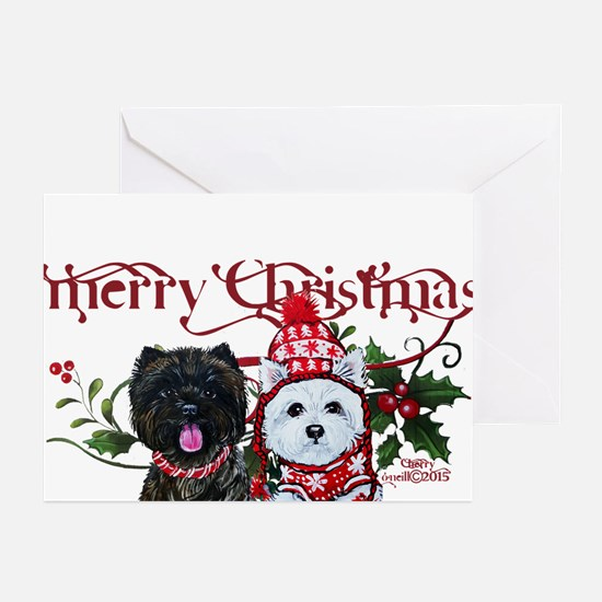 Westie Cairn Christmas Greeting Cards