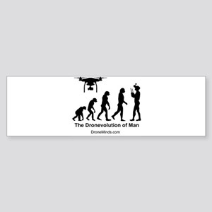 The Dronevolution of Man Bumper Sticker