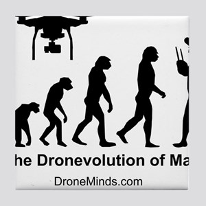The Dronevolution of Man Tile Coaster