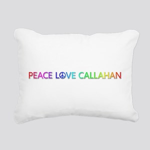 Peace Love Callahan Rectangular Canvas Pillow