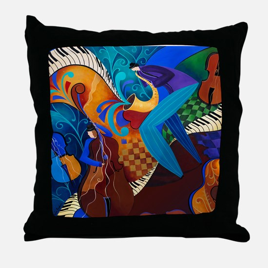 Musicians Jazz Art Print Throw Pillow