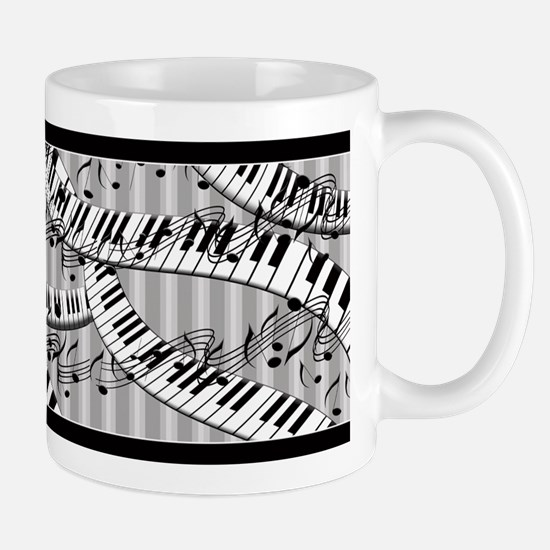Piano Notes Ceramic Coffee Mug