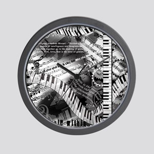 Classical Piano Music Quotes Wall Clock