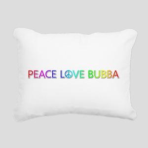 Peace Love Bubba Rectangular Canvas Pillow