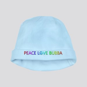 Peace Love Bubba baby hat
