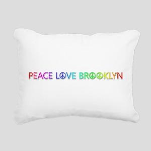 Peace Love Brooklyn Rectangular Canvas Pillow