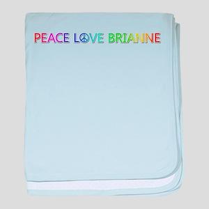 Peace Love Brianne baby blanket