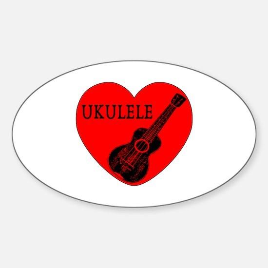 Ukulele Love Decal