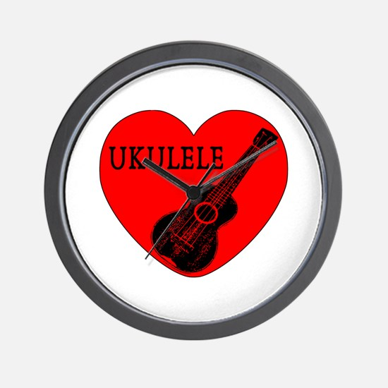 Ukulele Love Wall Clock