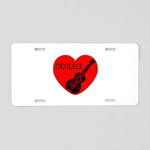 Ukulele Love Aluminum License Plate
