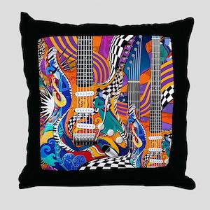 Pop Art Guitar Art Music Art Throw Pillow