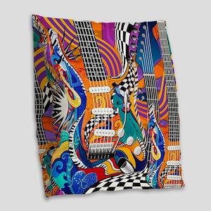 Pop Art Guitar Art Music Art Burlap Throw Pillow