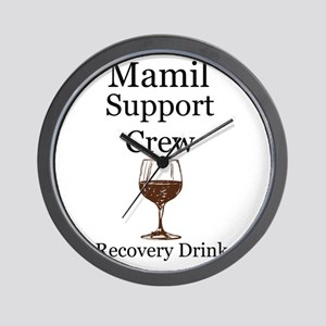 Mamil Support Crew Recovery Drink! Wall Clock