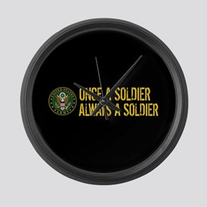 U.S. Army: Once a Soldier, Always Large Wall Clock