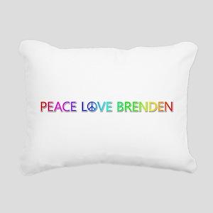 Peace Love Brenden Rectangular Canvas Pillow