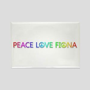 Peace Love Fiona Rectangle Magnet