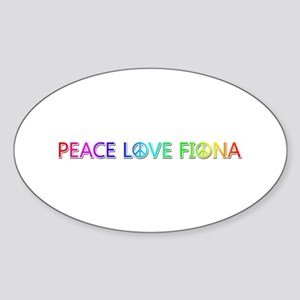 Peace Love Fiona Oval Sticker