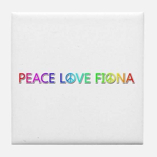 Peace Love Fiona Tile Coaster