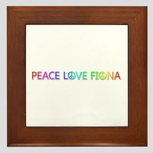 Peace Love Fiona Framed Tile
