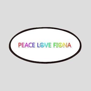 Peace Love Fiona Patch