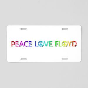 Peace Love Floyd Aluminum License Plate