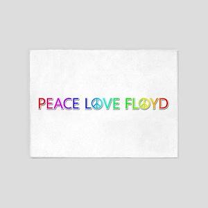 Peace Love Floyd 5'x7' Area Rug